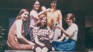 College Days (my mum is 2nd from the left, standing in the pink t-shirt)