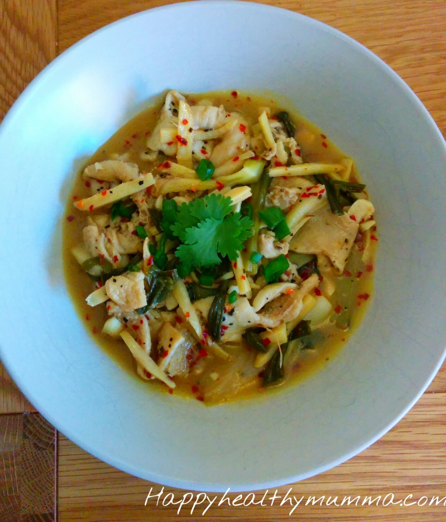 Tripe with ginger and spring onion recipe